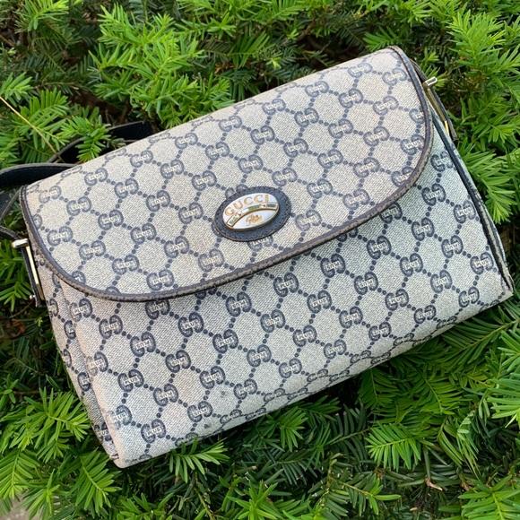 Gucci Handbags - Vntg. Gucci GG Plus Shoulder/Clutch Bag